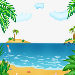 Beach Landscape, Landscape, Sandy Beach, Seawater PNG Image and ...