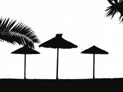 Tropical Beach Silhouette Icons PNG - Free PNG and Icons Downloads