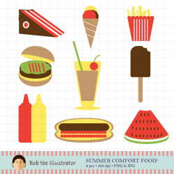 Summer Food Clip Art, Cake, Ice Cream, Party, Beach Clipart ...