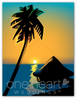 Beach Sunset Clipart | Beach Wedding Clipart