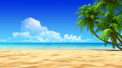 Tropical Island Beach Clipart HD Wallpaper, Background Images