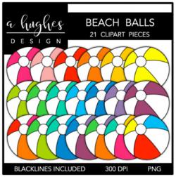 Beach Ball Clipart {A Hughes Design}