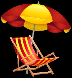 Beach Chair and Umbrella PNG Clip Art Image | SUMMER FUN ...