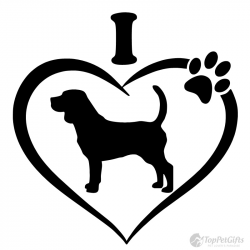 I Love My Beagle Decal - Top Pet Gifts