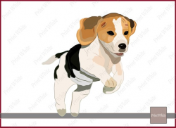 Beagle Clip Art Sublimation Design Beagle Puppy Clip Art Dog Clipart Beagle  Png Printable Beagle Image Transfer for Iron On Digital Download