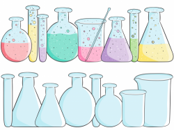 School Clipart – Beakers Empty Full | Chemistry, Graphics and Students