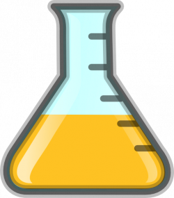 Yellow Flask Clip Art at Clker.com - vector clip art online, royalty ...