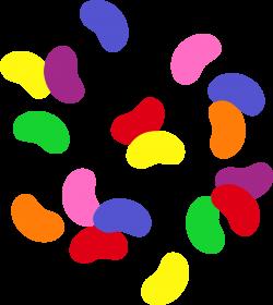 Simple Rainbow Jelly Beans - Free Clip Art