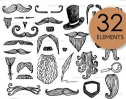 Beard clipart | Etsy