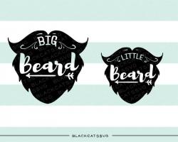 Daddy and me svg little beard big beard SVG file Cutting File ...