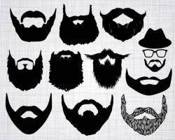Beard SVG Bundle, Beard SVG, Beard Clipart, Beard Cut Files For ...