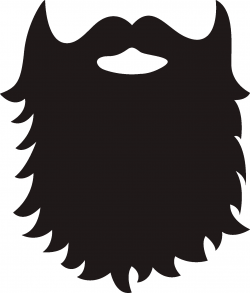 Unique Beard Clipart Design - Digital Clipart Collection