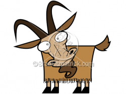 Cartoon Goat Clipart Character | Royalty Free Goat Picture Licensing.
