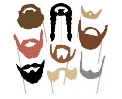 Printable Beard Photo Booth Props Beard Photobooth Props
