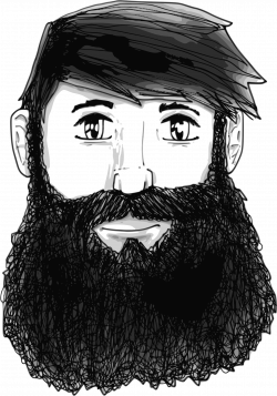 Clipart a guy with a beard image #18778
