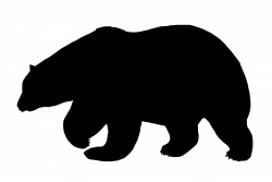 Black Bear Silhouette at GetDrawings.com | Free for personal use ...