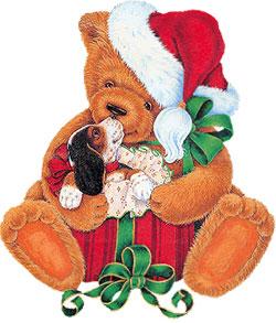 Free Christmas Bear Graphics - Christmas Bears Animated - Clipart