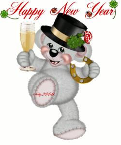Happy New Year everybody - cheers - GIF | New Year's GIF's ...