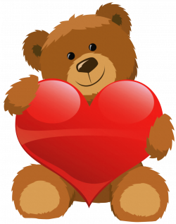 Cute Bear with Heart PNG Clipart Picture | Gallery Yopriceville ...