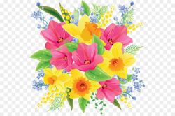 Bouquet Of Spring Flowers Clip Art Flower Bouquet Clip Art Beautiful ...