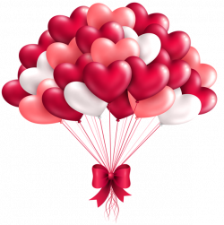 Beautiful Heart Balloons PNG Clipart Image | Valentines clip ...