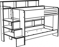 Hampton White Bunk Bed with | Clipart Panda - Free Clipart Images