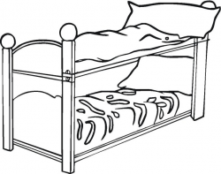 Bunk Bed Drawing at GetDrawings.com | Free for personal use Bunk Bed ...
