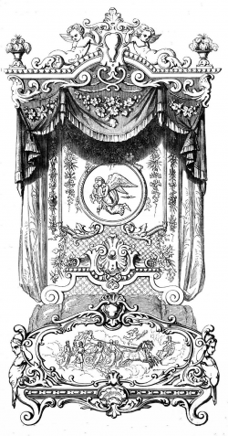 Antique Clip Art - Marie Antoinette's Bed | Clip art free, Clip art ...