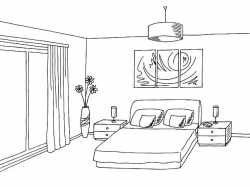 bedroom clipart black and white 1 | Clipart Station