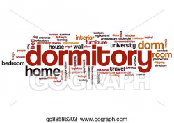 Drawing - Dormitory word cloud. Clipart Drawing gg88586303 - GoGraph