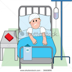 Cartoon Person in Hospital Bed | stock-vector-sick-man-in-hospital ...