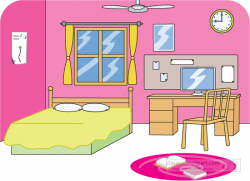 Living Room clipart neat room - Pencil and in color living room ...