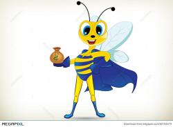 Fun Superhero Bee Illustration 50104473 - Megapixl