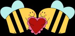 Valentine's Day Love Bees Clip Art - Valentine's Day Love Bees Image