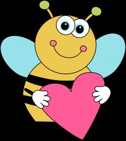 Bee Border Clip Art | Cartoon Valentine's Day Bee - cute cartoon bee ...