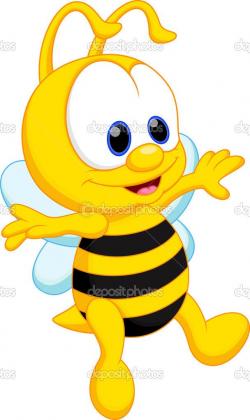 Caricatura lindo bebé abeja — Vector stock © irwanjos2 #45254409 ...