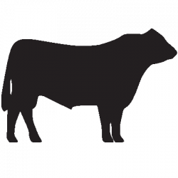 Beef Cow Outline Clipart