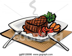 Vector Art - Grilled beef steak. Clipart Drawing gg66128996 - GoGraph