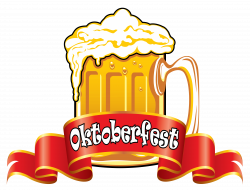 Oktoberfest Red Banner with Beer PNG Clipart Image | Gallery ...