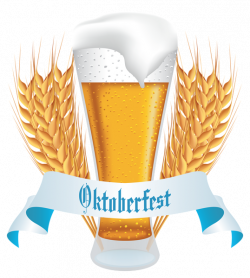 Oktoberfest Beer with Wheat Banner PNG Clipart Image | Gallery ...