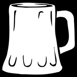 Beer Mug Black And White Clip Art at Clker.com - vector clip art ...