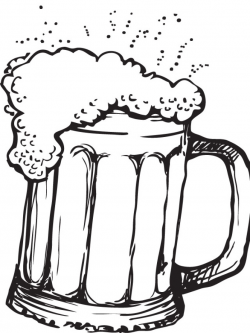 28+ Collection of Beer Mug Line Drawing | High quality, free ...
