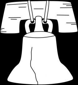 Black and White Liberty Bell Clip Art - Black and White Liberty Bell ...