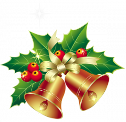 Christmas Bells with Mistletoe Ornament PNG Clipart   YANDEX CLIP ...