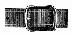 Antique Images: Free Digital Clip Art of Vintage Belt Buckle