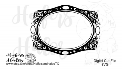 Blank belt buckle 2 svg pdf png eps dxf use with cricut