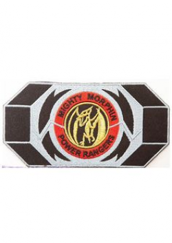Belt buckle Power Rangers patches. Oh the nostalgia ...