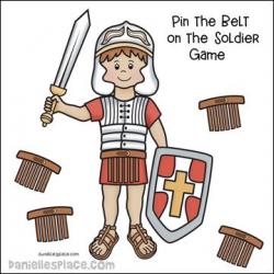 Pin the Belt on the Roman Soldier Game | nursery/Sunday School ideas ...