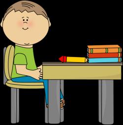 School Boy at School Desk | Clip Art-School | Pinterest | School ...