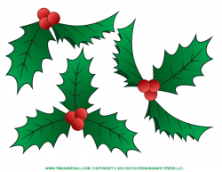 Free holly clip art, border and Christmas decoration images